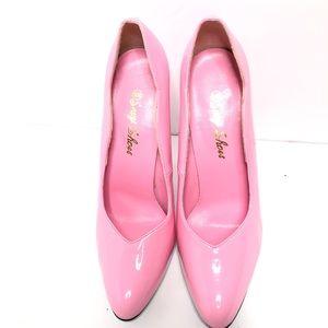 Shoes - Barbie Pink Patent Leather Pumps Size 10